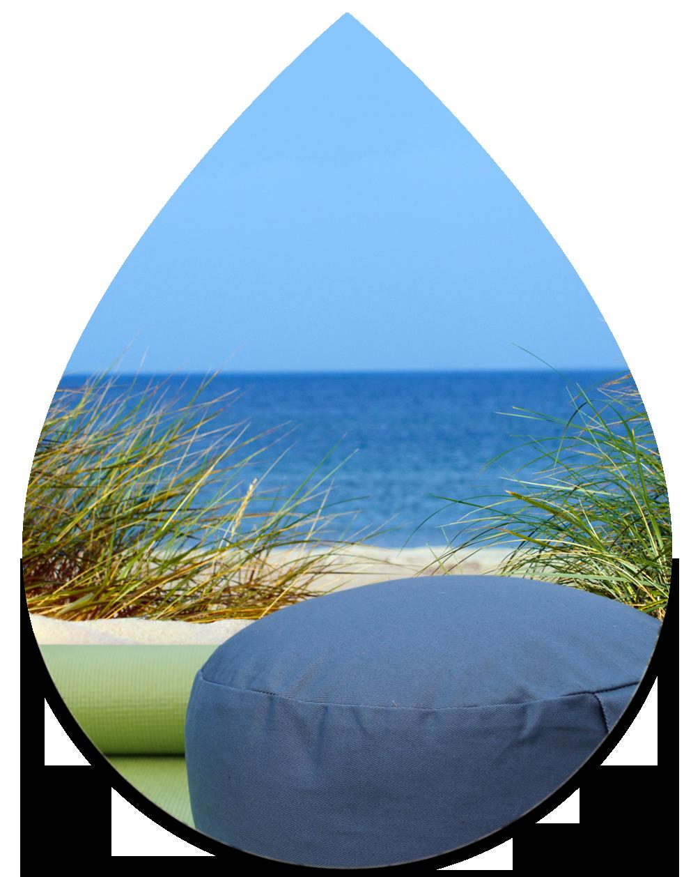 Achtsamkeitskurse – Yogamatte und Yogakissen